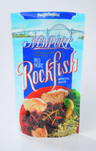 stand up zipper wild pacific rockfish food plastic bag