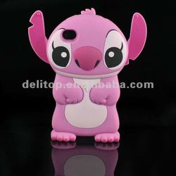 Cute 3D Stitch Hard Back Case Cover Skin For Apple iPhone 4 4S Pink