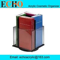 4 pocket rotating acrylic display stand for brochure