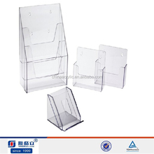 Hot sale manufacturer three set custom acrylic wall mount poster holder,customized plexiglass acrylic poster display stand