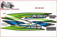 motorcycle decal, motorcycle decal design, sticker for Honda WAVE 100 3 2003