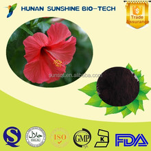 natural plant extract 25% Anthocyanidin Hibiscus Flower Extract Powder