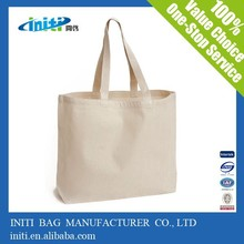China custom quality recyclable blank canvas tote bag