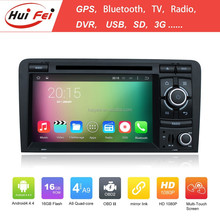 huifei android4.4.4 Car DVD with Quad-core,1024*600 for Audi A3 with 3G,Wifi,GPS,DVD,Bluetooth