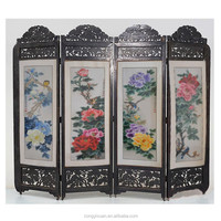 Chinese Embroidery Folding Screen Room Divider