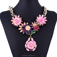 DIY charming Wholesales Acrylic ROse Flower Necklace jewelry supply