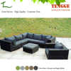 YH-6027 Outdoor rattan garden corner sofa set furniture
