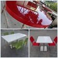 O restaurante fastfood móveis/pequena mesa de mármore redonda/mesas de café e cadeiras