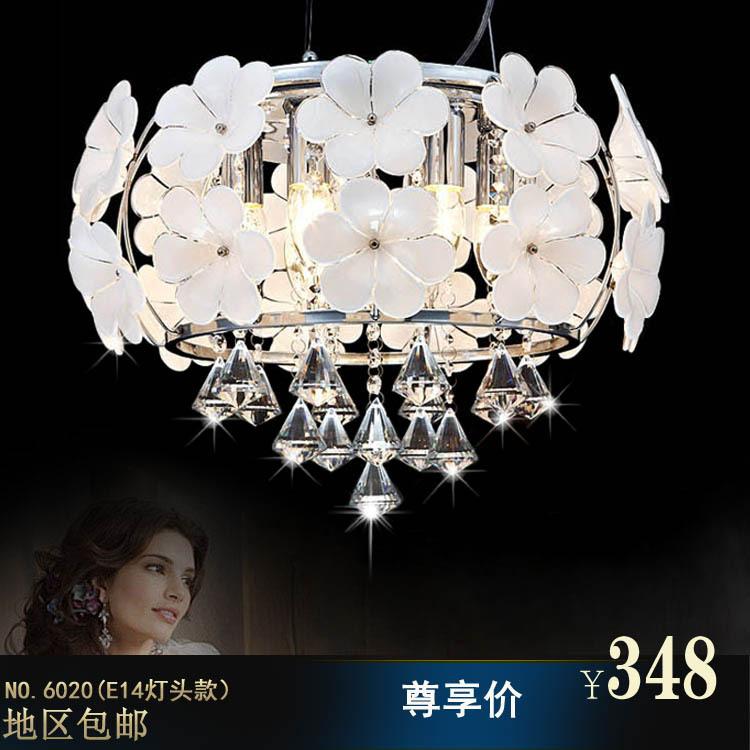 Sexto sentido pastoral flores de cristal lámparas de techo ...