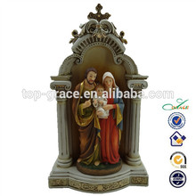 hotselling de resina con luz de la sagrada familia de figuras