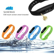 2015 Newest Touch Operated bluetooth bracelet Compatible android and ios phone waterproof Smart Bracelet E06
