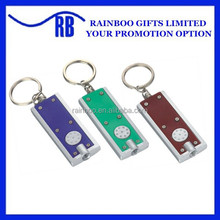 Hot sale Promotional cheap plastic souvenir led flashlights keychain with logo printed