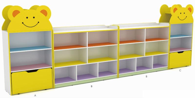 Train style wooden kids storage cabinets preschool wood