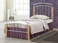 Muebles de dormitorio barato solo metal camas con patas de madera BD-3035