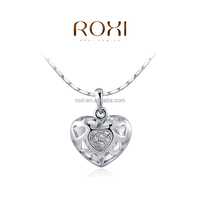 ROXI Fashion jewelry Latest design Hollow out Glowing heart Necklace