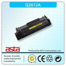 Negro Cartucho de tóner compatible para HP 2612 proveedor china Cartucho de tóner compatible para HP 2612