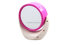 portable table clock with beauty mirror good for gifts