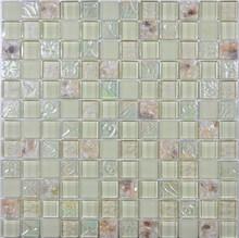 2015 new trend glass mix ceramics mosaic tiles