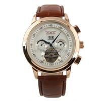 ESS Gent's White Tourbillon Rose Golden Elegant Automatic Mechanical Watch WM234