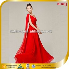 Wholesale Cheap Red One Shoulder Long Prom Dresses