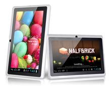 Barato 7 pulgadas android tablet pc quad core q88 doble cámara de allwinner a33 android4.4 mediados de mini pc de china del alibaba