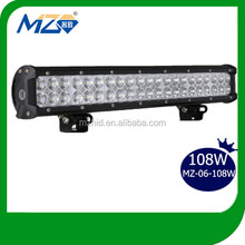 Aluminum alloy Best price whole sale 108W LED CREE truck light bar t bar