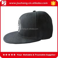 Flat cap 3D puff embroidery designs snapba hat