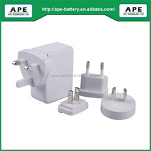 OEM Factory Quick Charge 2.0 Certified/MPA818QW/Plug Changeable for smartphone equip with Qualcomm Snapdrogan chipset