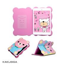 cute cartoon bear flip case for tablet samsung galaxy tab 3