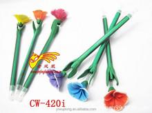 Hot fashion yiwu market Custom imprinted polymer clay craft cartoon pen