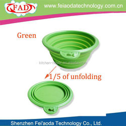 Top Selling FDA Grade Health Colorful Portable Silicone Pet Travel Drinking Bowl