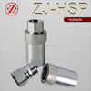 ZJ-HSP carbon steel Japaness type Hydraulic Quick Disconnects couplings