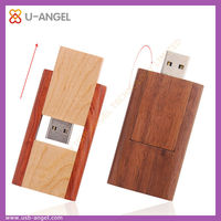 High speed 32gb wood usb with free gift box pack,wooden swivel usb flash drive