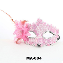 2015 Festival Fashion Wholesale Sex Party Mask Red Blue Pvc Flower Lace Mask