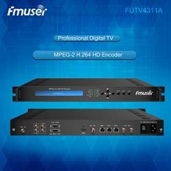 RCA x 2 in IP out MPEG-4 AVC /H.264 digital tv headend equipment catv encoder