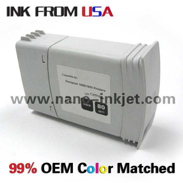 Pour HP cartouche d'encre 80 pour HP designjet 1050 1055 1000 traceur avec puce gros