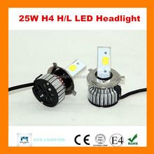Guangzhou 3000lumen car led h4 headlight bulbs 25W Hi/lo beam Plug-and-play for all cars