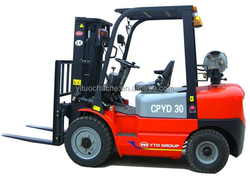 YTO LPG/gas Nissan forklift truck CPYD30 with good price