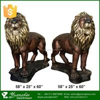 life size bronze lion / Outdoor Bronze&Brass sculpture of Metal lion sculpture for sale