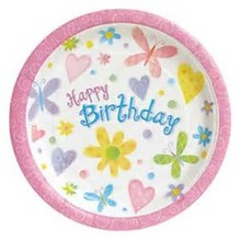 kids boy girl baby birthday party decoration Butterfly Theme kits supplies favors Cake Dish paper plate