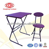 Modern Purple School Desk and Chair