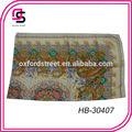 Digital de paisley bufanda de seda de impresión, diseño personalizado 100% pañuelo de seda