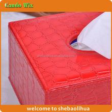 Large Rectangle Tissue Box Fashion Grain Texture Leather Tissue Box Cover