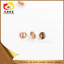 Good cutting Round cut smoky cubic zirconia gem for jewelry sets