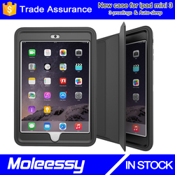 High-end laptop cases for ipad mini/mini123 smart leather case China manufacturer