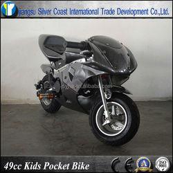 Carbon Color 49cc Moto Bike Racing Pocket Bike with 10 inch Wheel