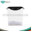 Plastic cat dog pet food storage bucket food container with flip lid