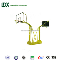 Outdoor sports hottest petrel double movable basketball stand with tempered glass backboard