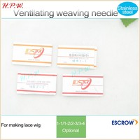 wholesale ventilating hair weaving crochet hook needles with curved tip tool for lace wig making