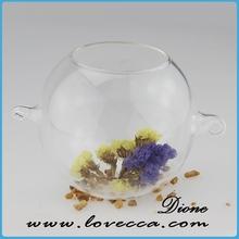 Claro claro florero de vidrio pieza central de la decoración, artesanías casa adornos florero de vidrio, dulce decorativos cristal claros balls